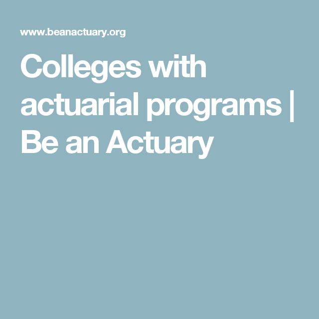 actuary programs