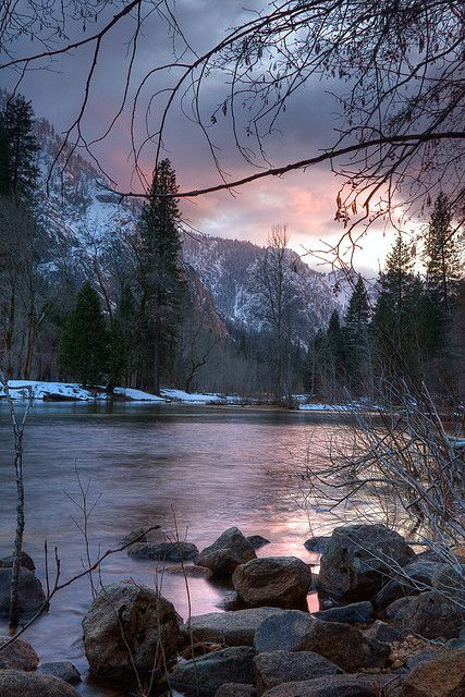 Rocks during a sunset in Yosemite by apouche, via Flickr