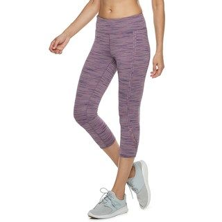 bc3c98fefe241 Tek Gear Women s Open-Work Mid-Rise Capri Leggings
