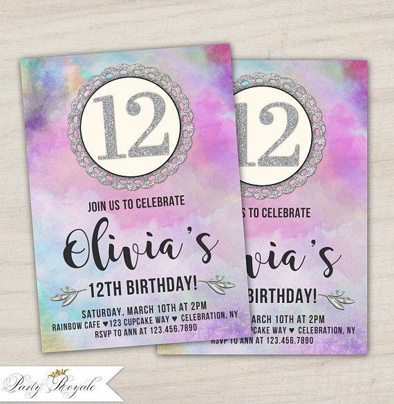 12th birthday invitations tween birthday party invitation 12th 12th birthday invitations tween birthday party invitation 12th birthday invites for a girl filmwisefo