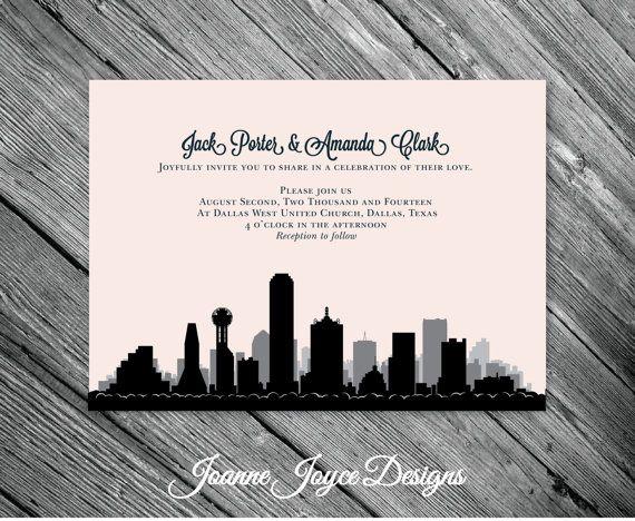 Dallas Wedding Invitations Texas City Invitation Customize To Your