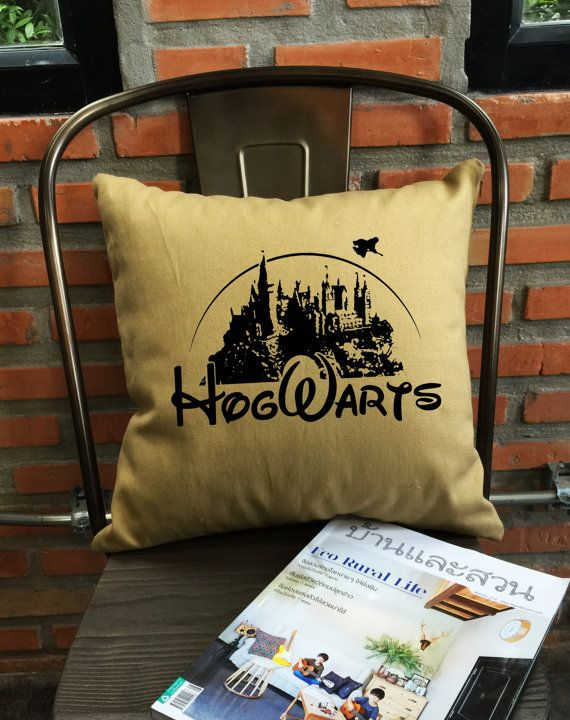 SALE !! Hogwarts Alumni Harry throw pillow cover Harry potter cotton ...