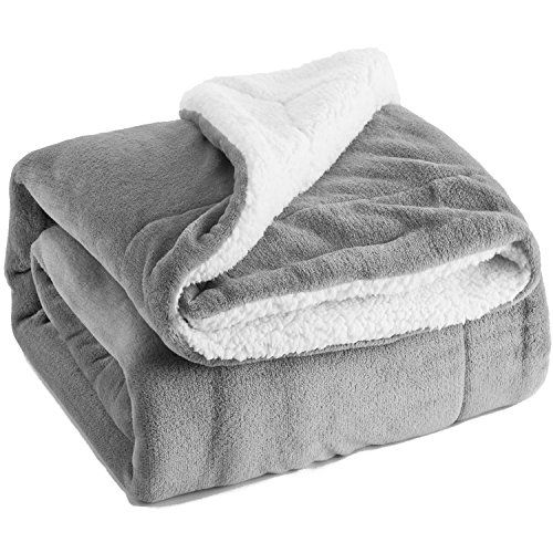 Throw Sherpa Flannel Fleece Blanket Extra Soft Reversible Plush Fabric Gift