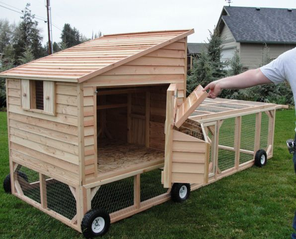 Portable chicken coop on wheels for please let us know for Diy movable chicken coop