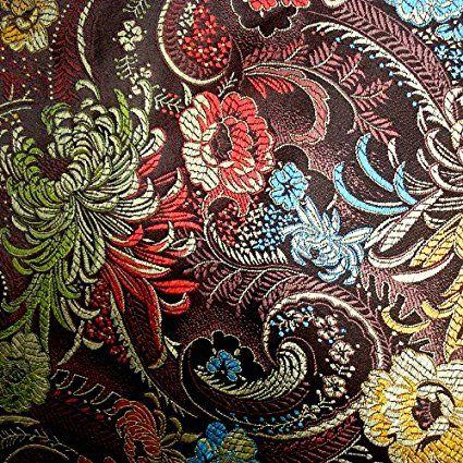 g056 stoffe stoff brokat seide in feiner stickerei meterware patchwork n hen stoffe und. Black Bedroom Furniture Sets. Home Design Ideas
