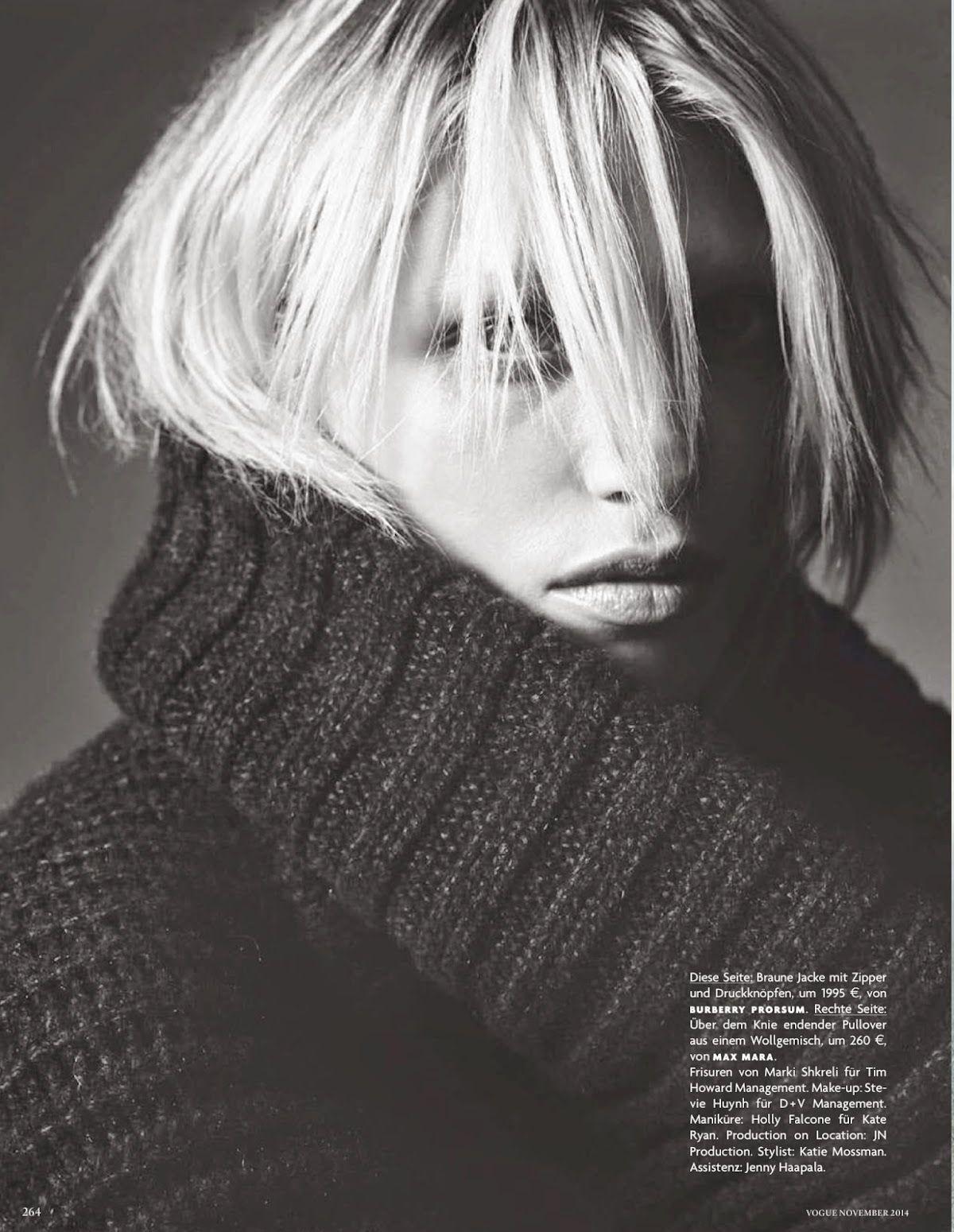 Vogue Germany Nov 2014   Hana Jirickova by Nick Dorey