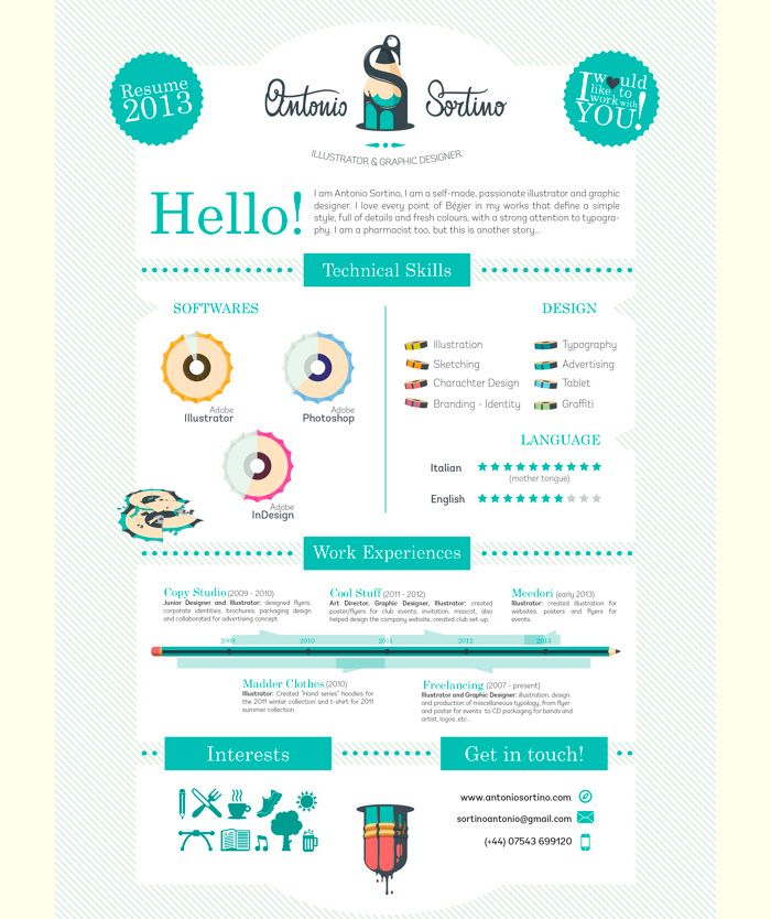 curriculum vitae originales  50 ejemplos de currículums originales | CVs | Pinterest ...