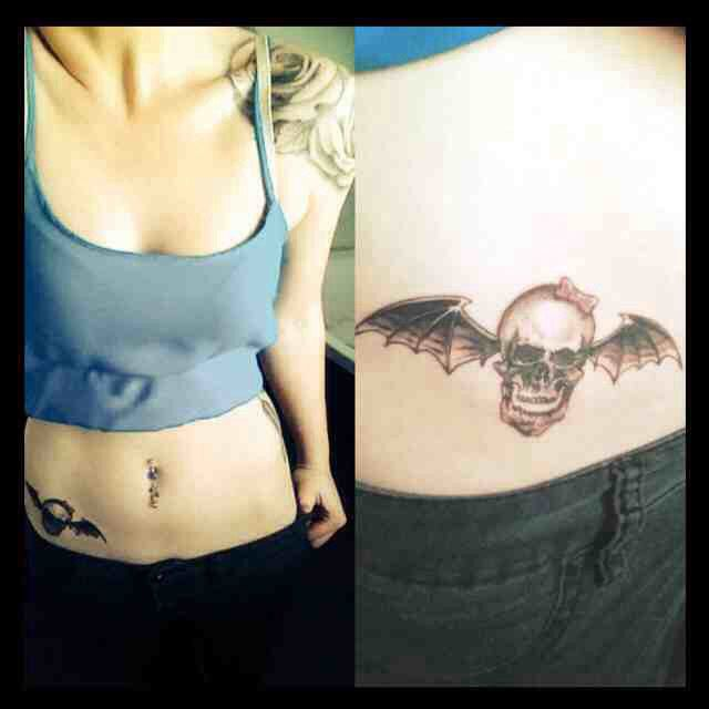 My New Avenged Sevenfold Tattoo Love This Band More Than Any Other Love This Girly Deathbat A7x Avenged Sevenfold Tattoo Tattoos Tattoos And Piercings