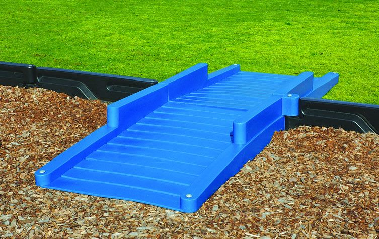 Double Blue Ada Playground Wheelchair Access Ramp Belson