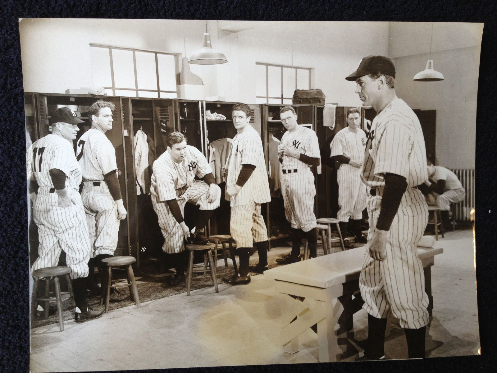 Vintage Baseball Locker Room Entrance