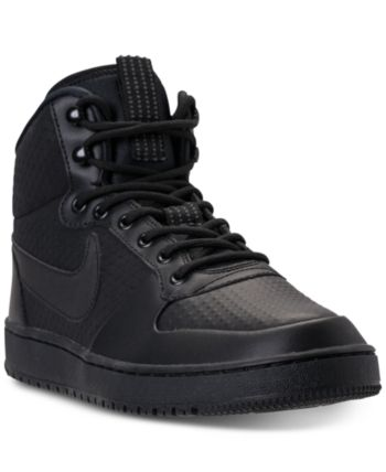 check out db2d9 1914f Nike Men s Court Borough Mid Winter Outdoor Casual Sneakers from Finish  Line - Black 12