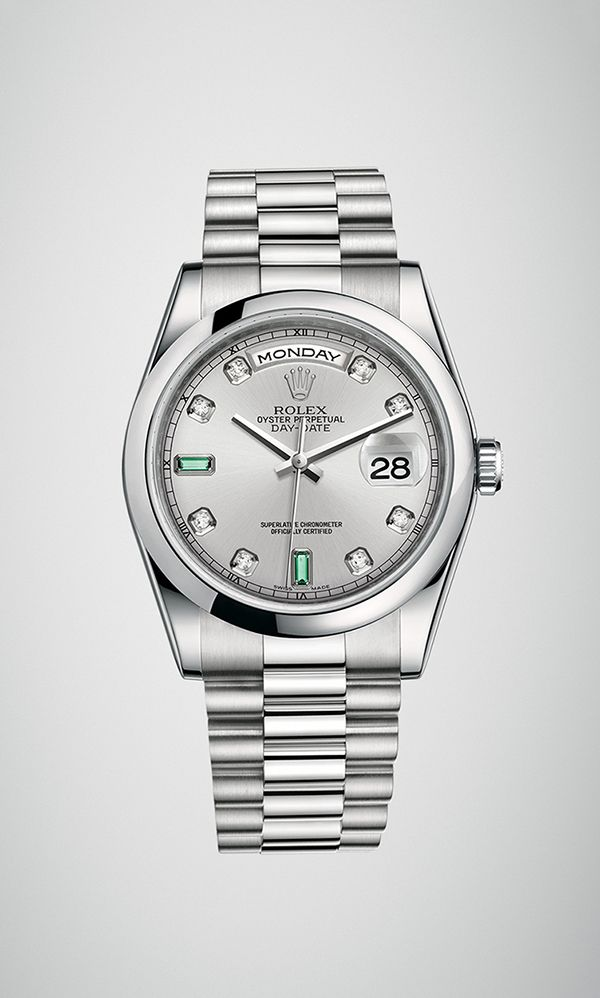 A Rolex Day-Date 36 in 950 platinum with a domed bezel 9126cafec1