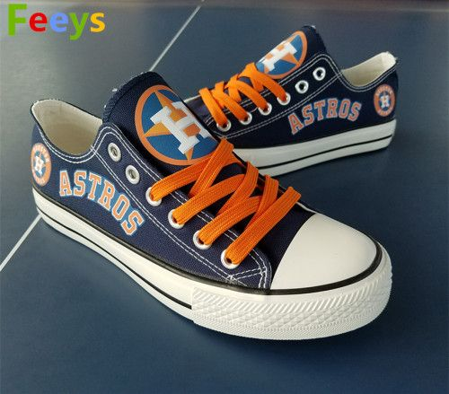 037fa4fb09c Houston Astros shoes Astros sneakers blue Baseball shoes Birthday gift