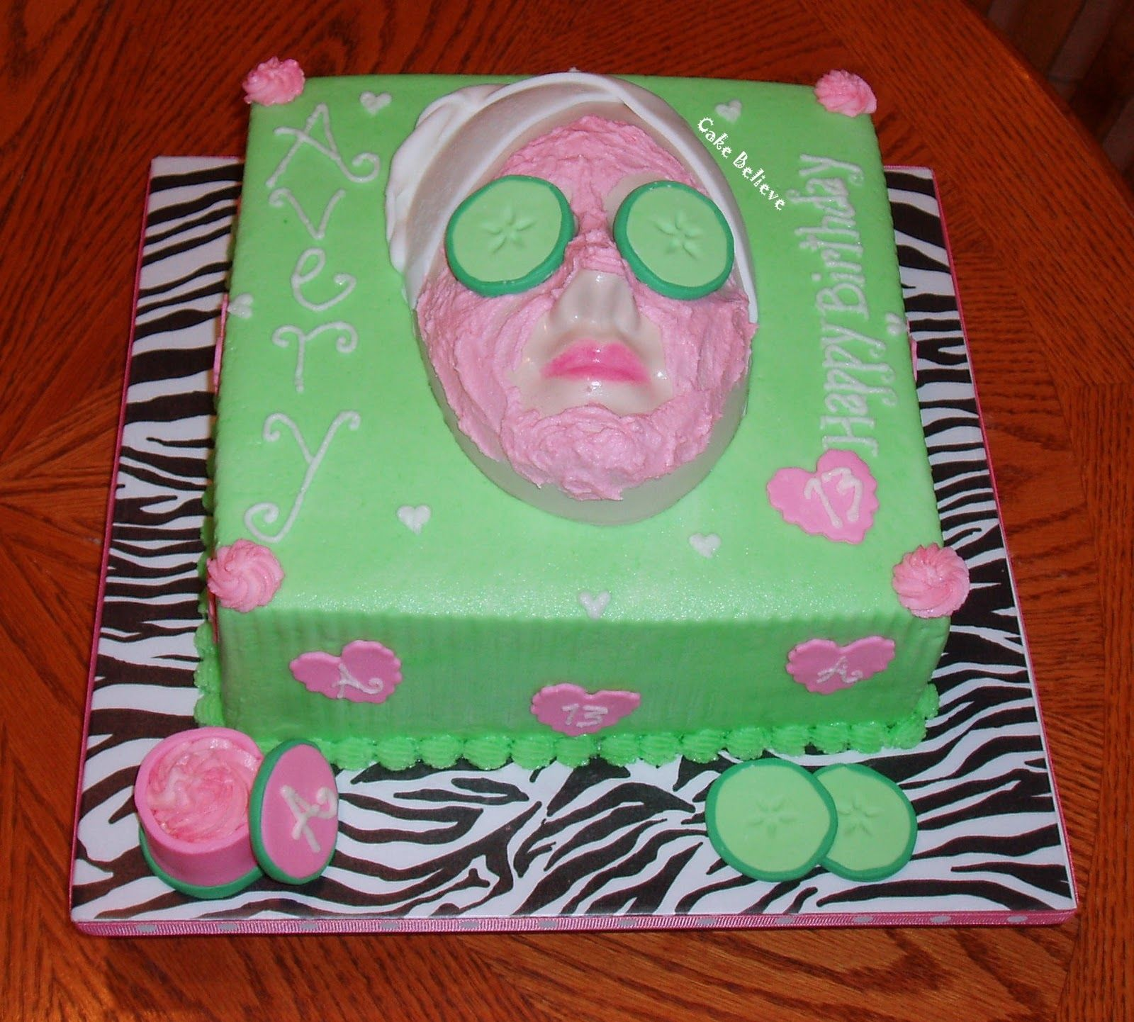 13th Birthday Party Ideas For Girls Spa Parties 12th Cake