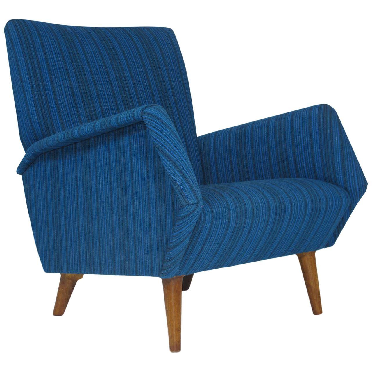 Gio Ponti Model 803 Mid Century Italian Lounge Chair Modern  # Muebles Gio Ponti