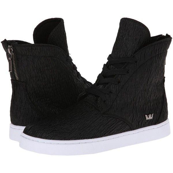 Womens Shoes Supra Joplin Black Crinkle/White