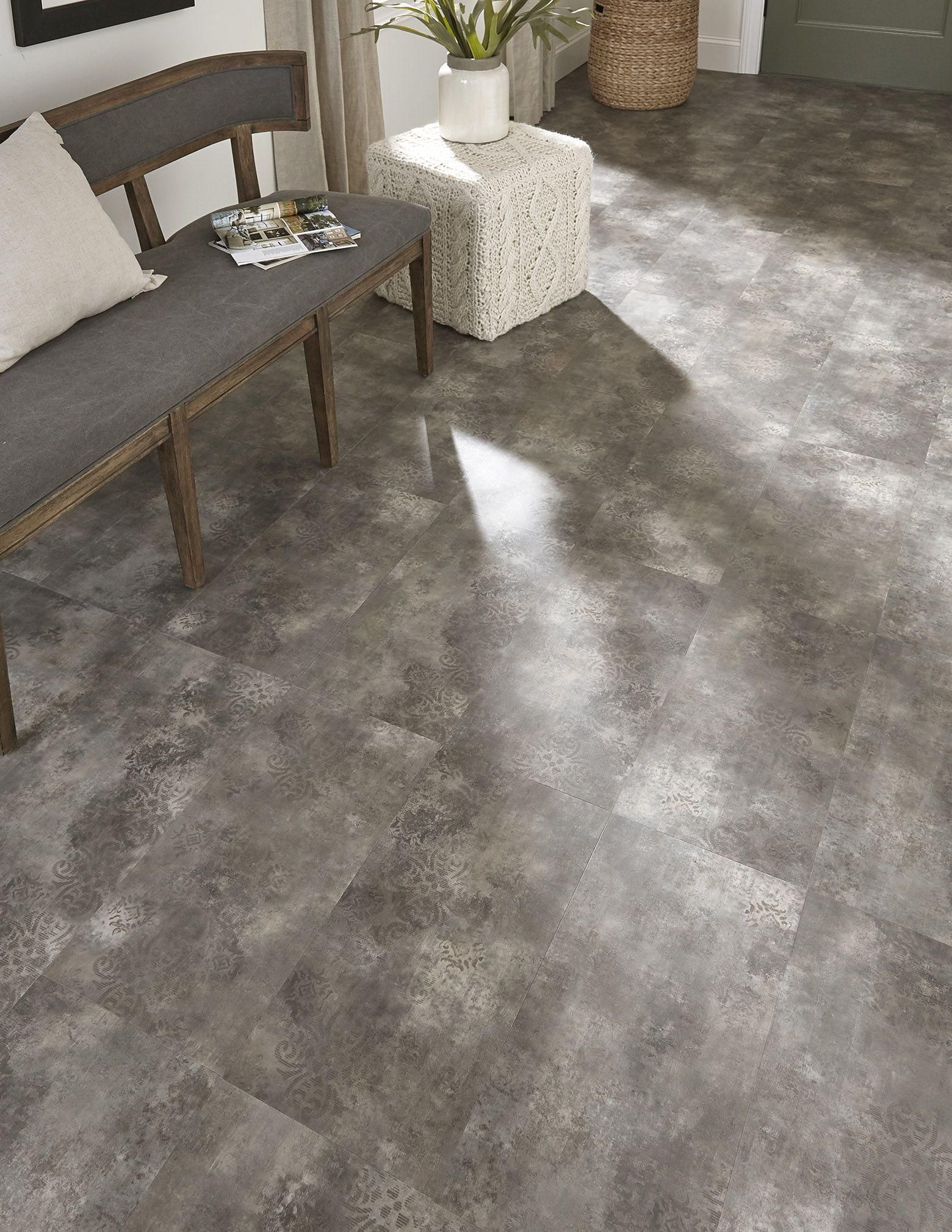 Serenbe Can Make An Entrance Like No Other Lvt On The Market Your Guests Will Be Dazzled By This Stenci Luxury Vinyl Tile Craftsman Remodel Flooring Projects