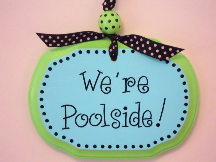 painted pool signs   Pool Sign Personalized Hand Painted by littlewhitedogstudio, $17.00