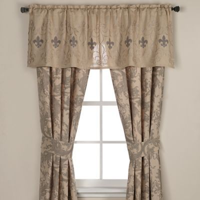 Buy Fleur De Lis Window Valance From Bed Bath Amp Beyond