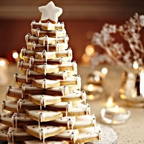 Stacked Christmas Tree White Christmas Party Christmas Tree Food