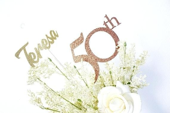 50th Birthday Centerpieces Decoration Package