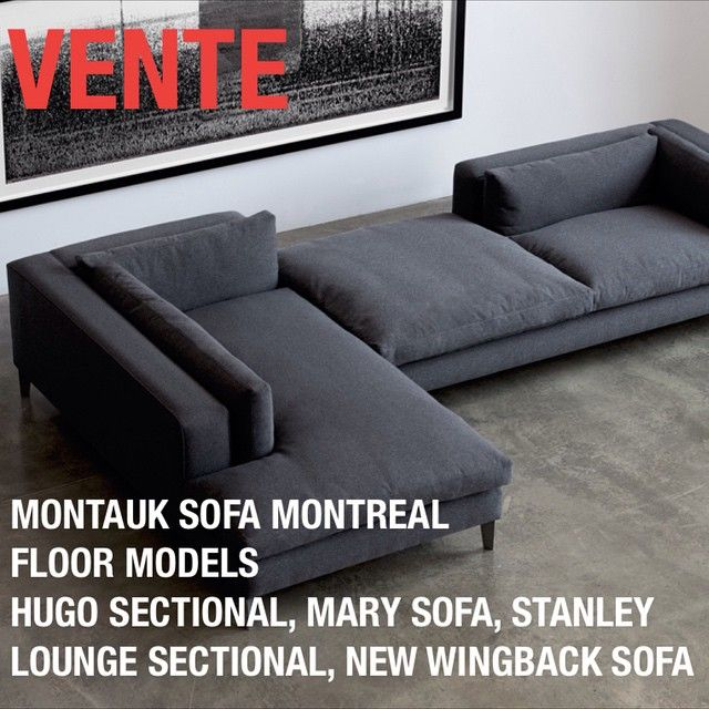VENTE/SALE MONTAUK SOFA MONTREAL MODELS DE PLANCHER/FLOOR MODELS HUGO SECTIONAL reg. : sectional couch montreal - Sectionals, Sofas & Couches