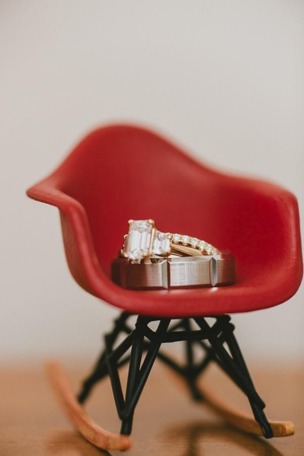 Mid-century modern and sparkly love-fest wedding rings! Check out the rest of this event at Lennd!