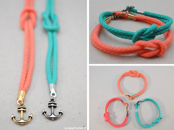 Assez bracelet été noeud ancre marin - auseychelles.fr | Bijoux DIY  HN05