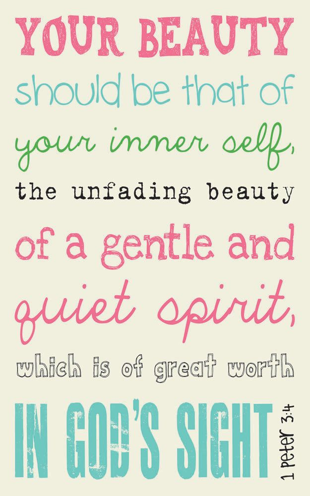 Inner Beauty Quotes Scripture Art Bible Verse Art Faith Based Art 1 Peter 34 5X8 .