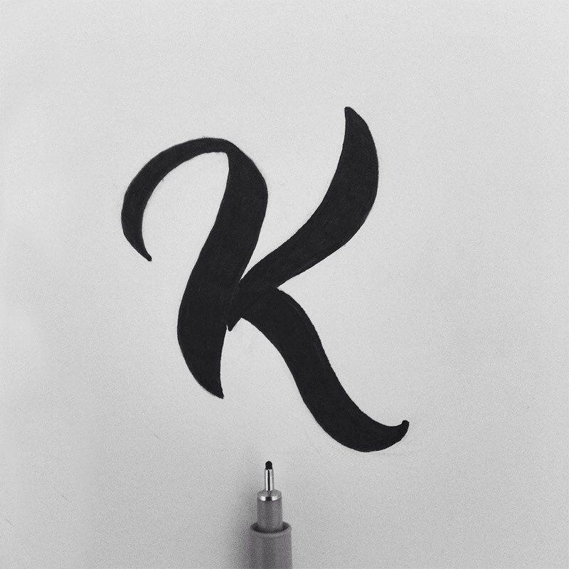 666 Likes 5 Comments Victor Belinatti Belinattink On Instagram K Is For Kyokusen Curves Logo Design Art Sign Painting Lettering Initials Logo Design
