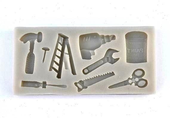 MOLD Fondant Mold Chocolate Mold Hammer Ladder Paint Scissors Screwdriver Cupcake Decoration for Men Fathers Day MoldchocolateTOOLS VARIETY MOLD Fondant Mold Chocolate Mo...