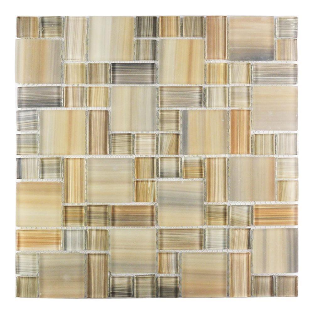 Abolos Handicraft Ii Beige Mix 12 In X Gl Mosaic Tile