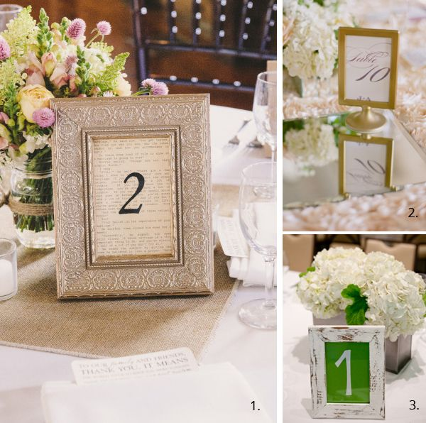 Wedding Table Number Ideas Wedding tables Table numbers and