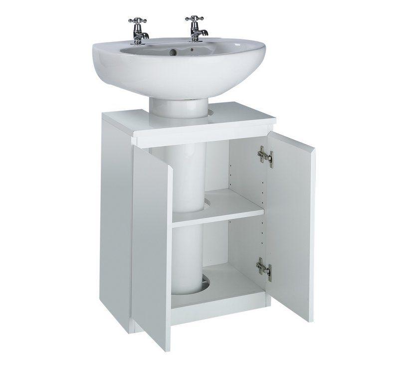 Buy Argos Home Gloss Undersink Storage White Bathroom Furniture White Bathroom Shelves