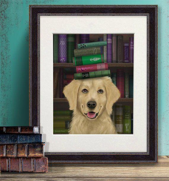 Gold Retriever Print Golden Retriever Books Golden Dog Gift