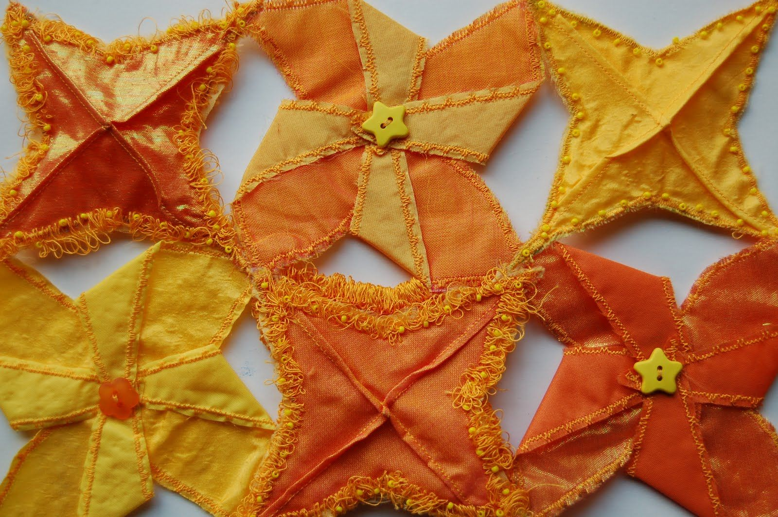 Chemical flowers 3d machine embroidery with haberdashery