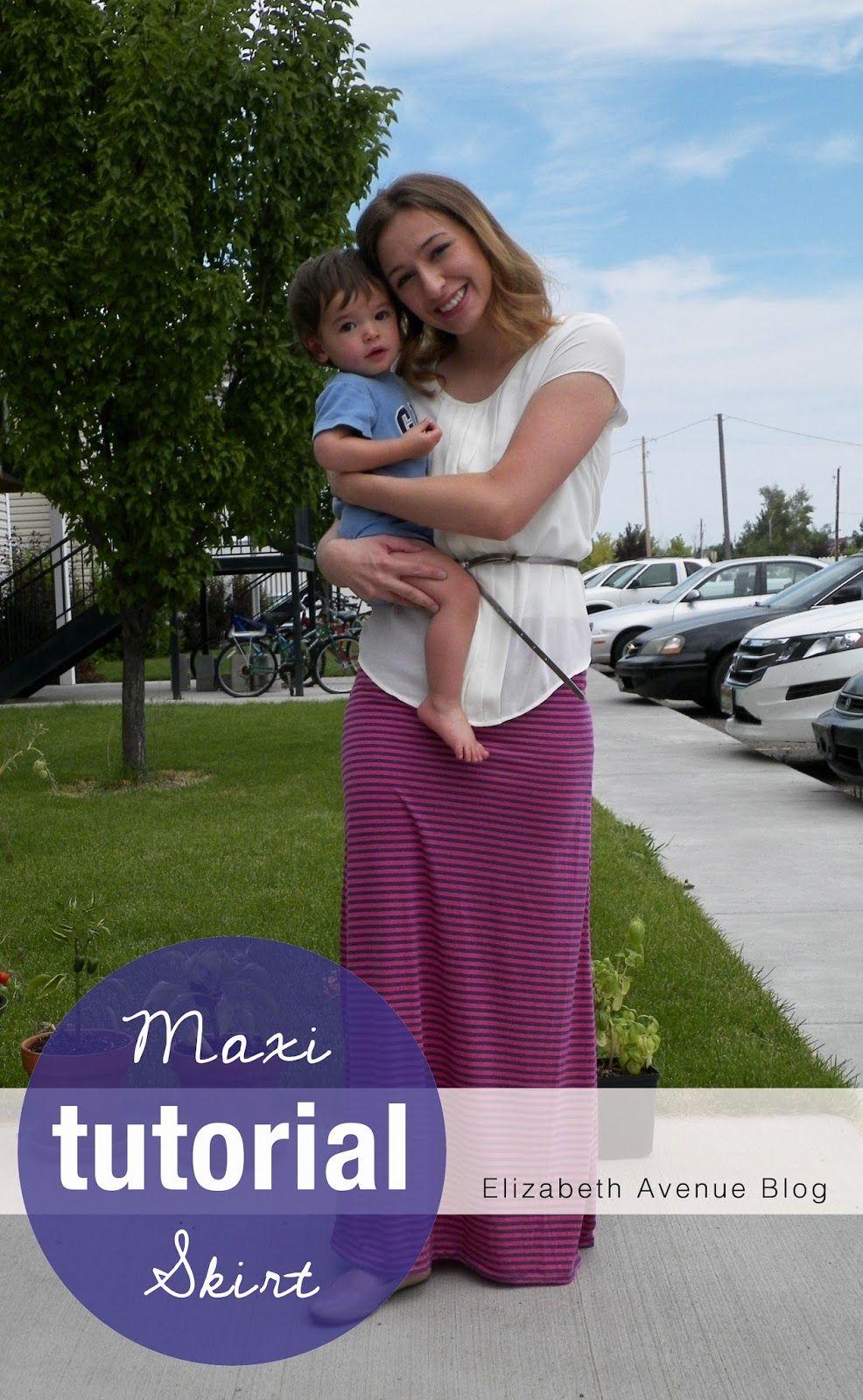 Simple Maxi Skirt Tutorial - Elizabeth Ave   Crafty   Pinterest ...