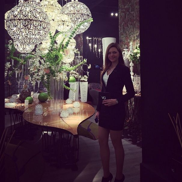 Thanks to our beautiful hostess Lesya at Maison & Objet in