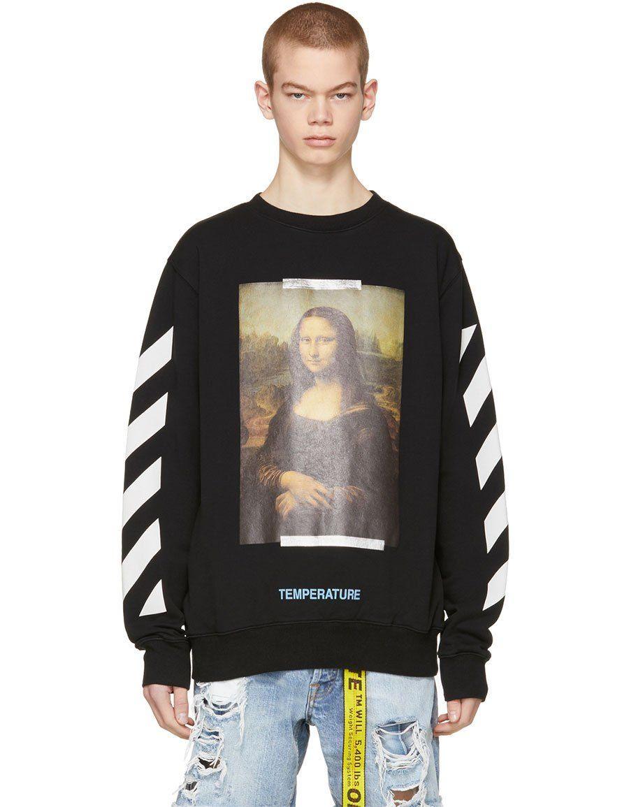 Off White Black Monalisa Sweatshirt Vergle Mona Lisa Kleidung Mona [ 1155 x 900 Pixel ]