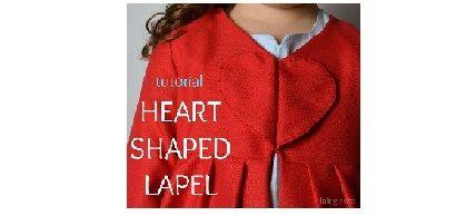 heart shaped lapel; super cute!