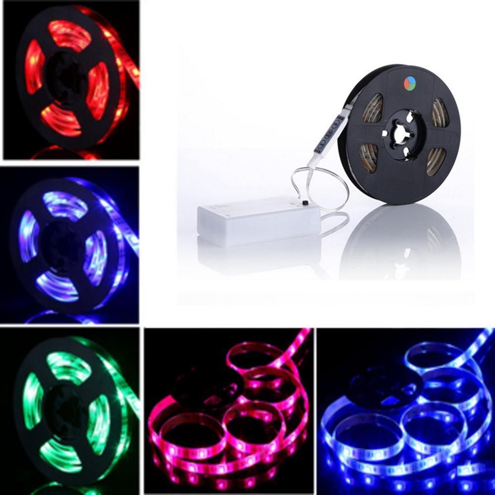 Led Light Strips Battery Powered Adorable Waterproof Rgb Led Flexible Light Strip Battery Powered  Products Decorating Design