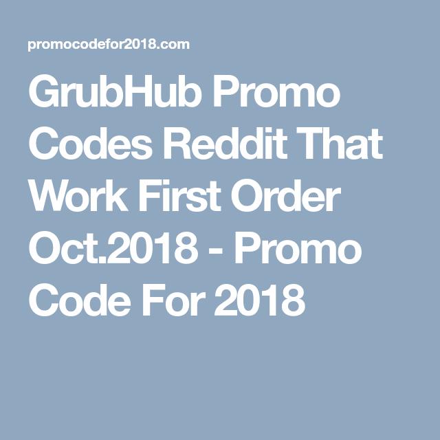 grubhub promo code 2018 existing customers