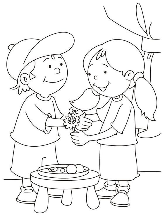 2016 Raksha Bandhan Drawing Coloring Pages Pictures Competition