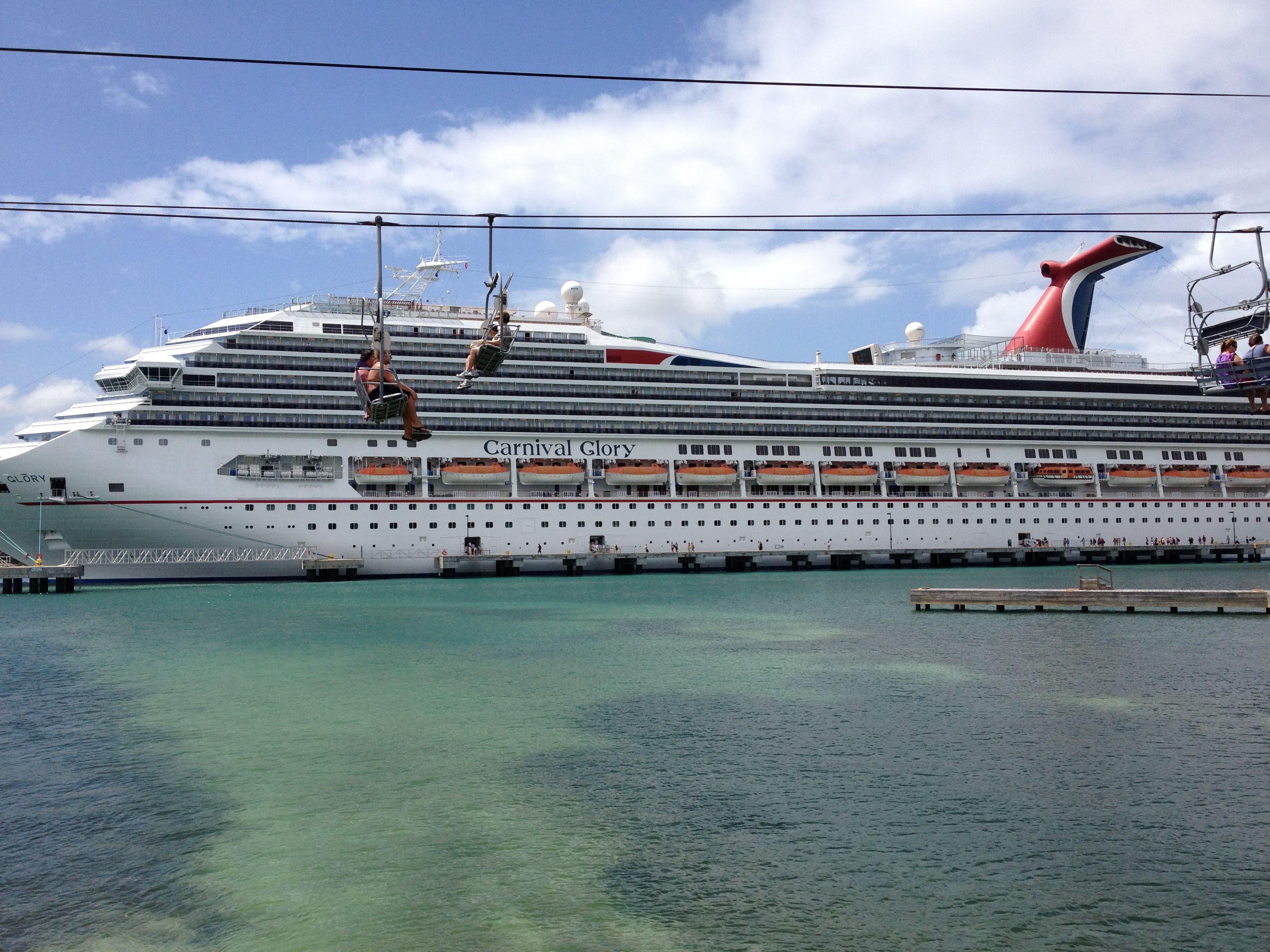 Carnival Cruise Ship Docked In Mahogany Bay Isla Roatan Cruise