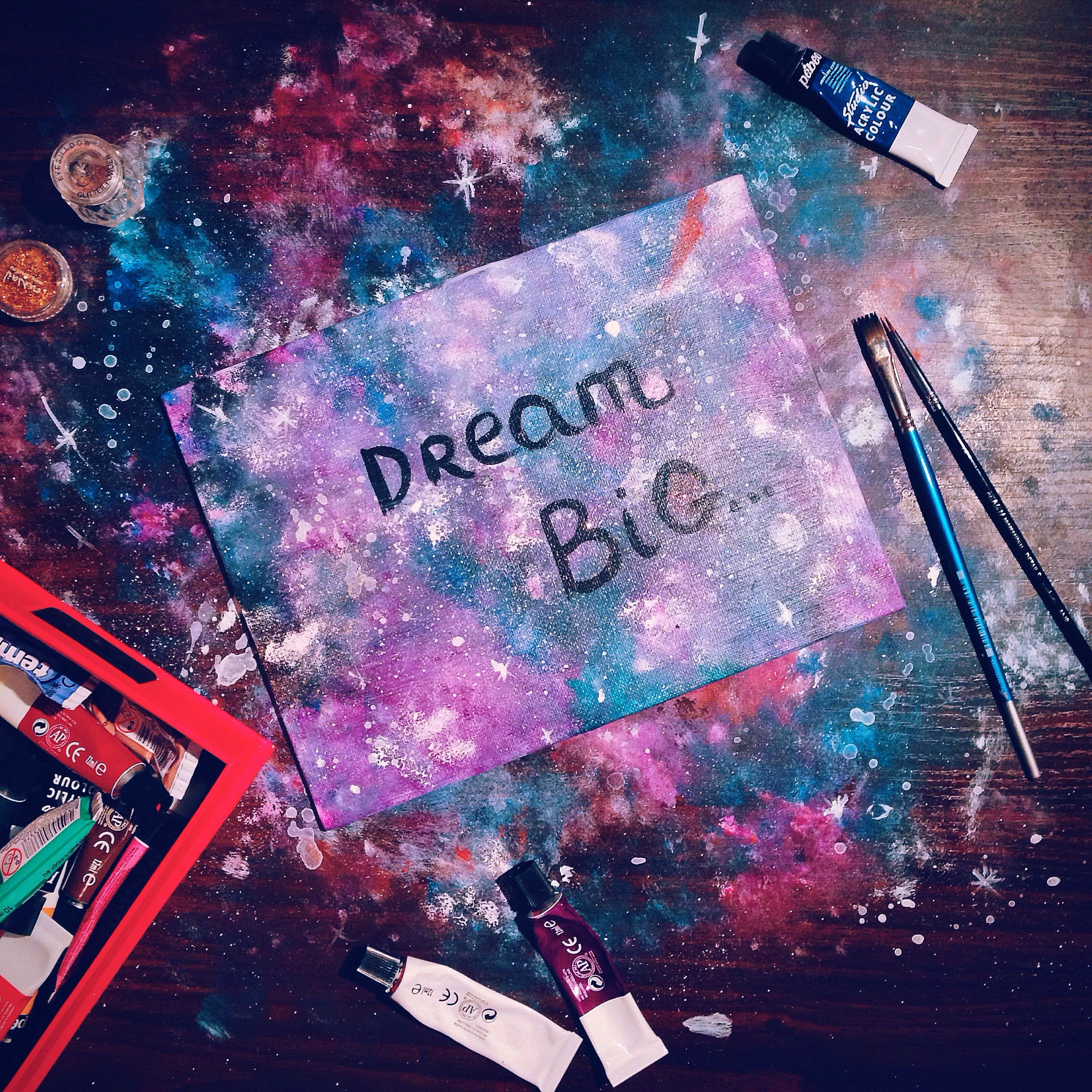 Dream big #motivation#board#dream#big#universe#galaxy#art#decor#room#decoration