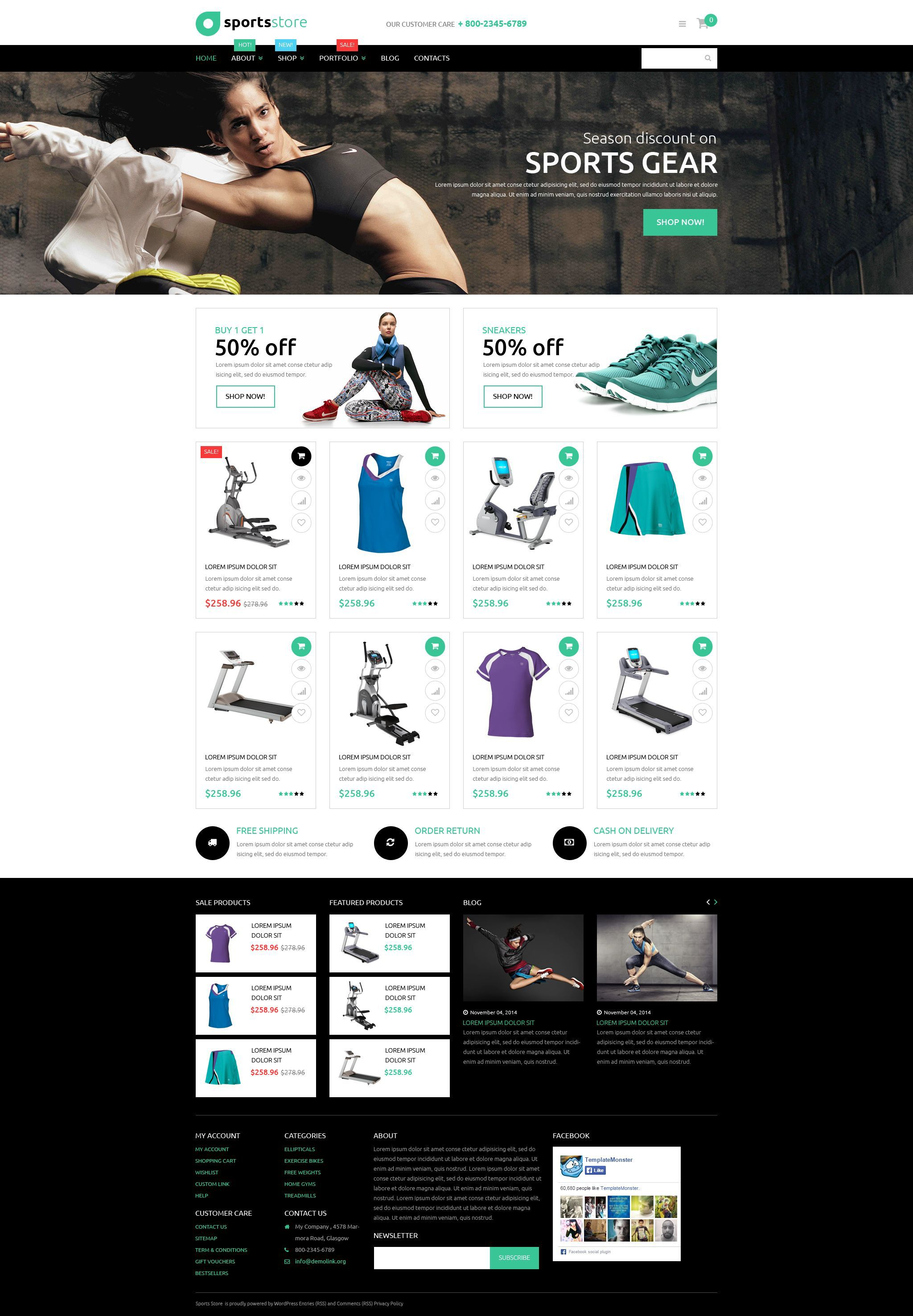 43b954068e21 This well-crafted black and white theme is perfect for <em>sport,  electronics, fashion, beauty</em> or any other store aimed at being  noticeable online.