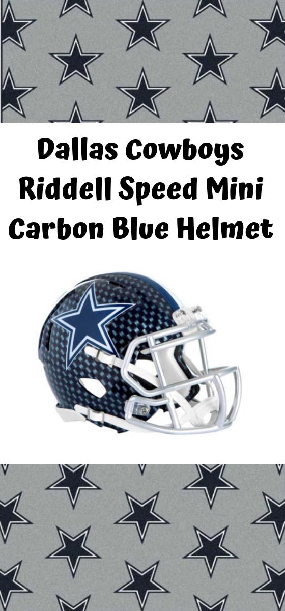 2cde81b7 Get the Dallas Cowboys Riddell Speed Mini Carbon Blue Helmet ...