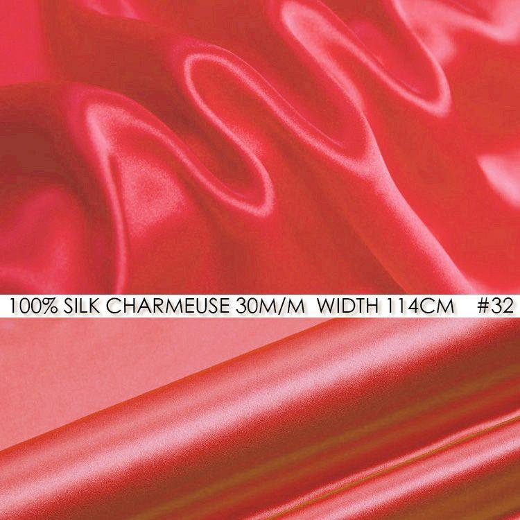 SILK CHARMEUSE SATIN Fabric 114cm width 30 momme 100% Pure Silk ...