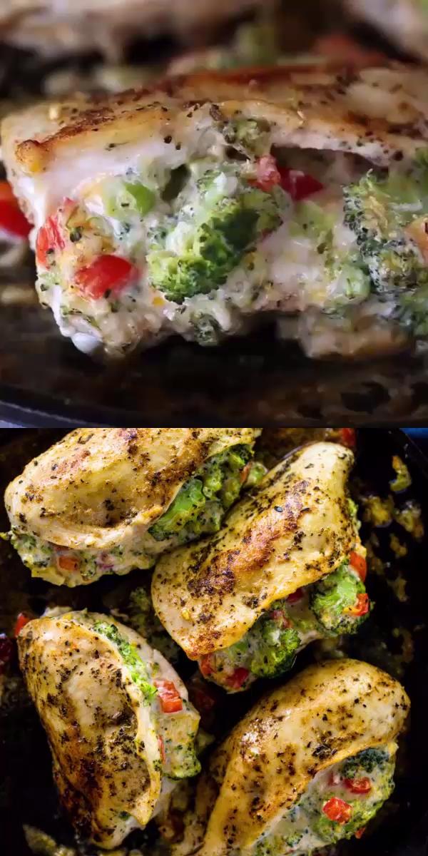 Cheesy Broccoli Stuffed Chicken (low-carb, Keto)