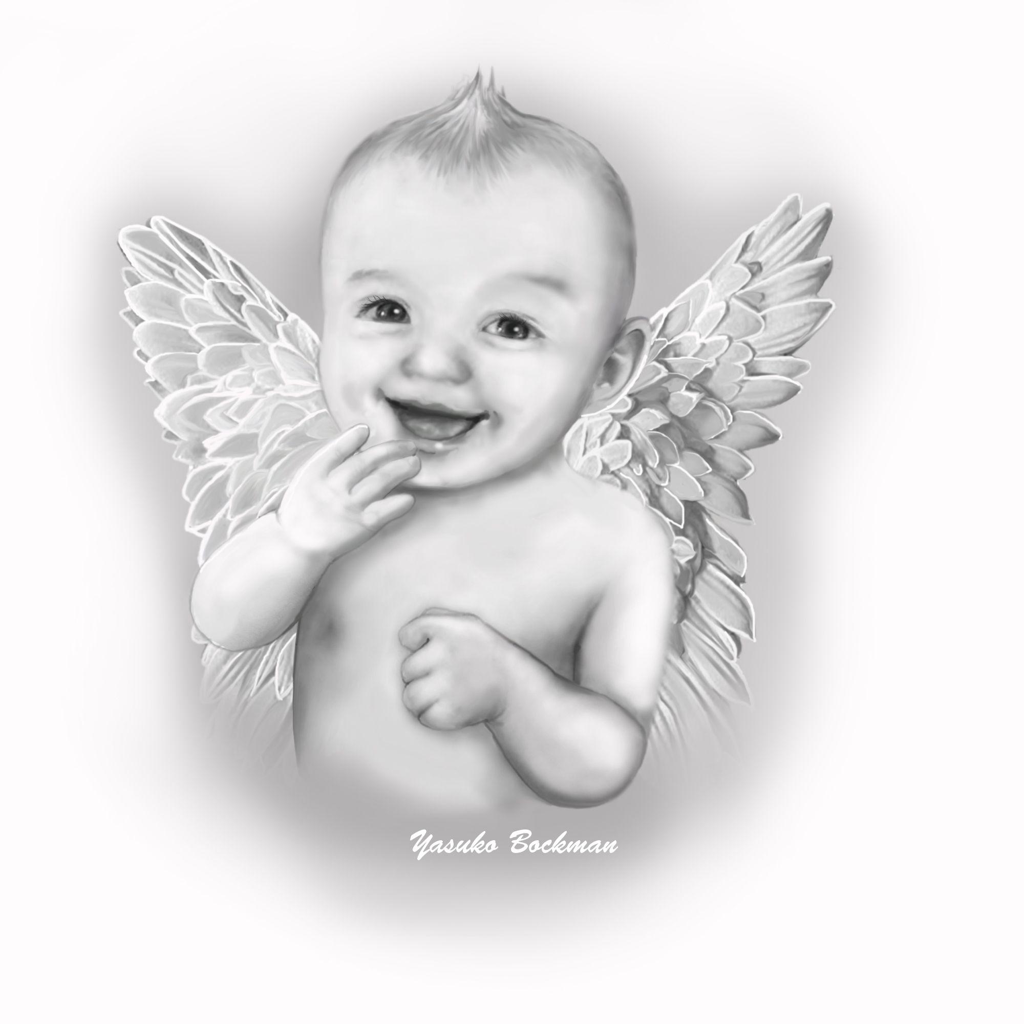 BABY ANGEL   Angel art, Angel sketch, Angel drawing
